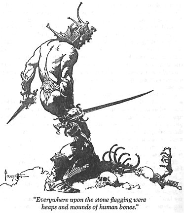 Illustration de Frank Frazetta pour The fighting man of Mars
